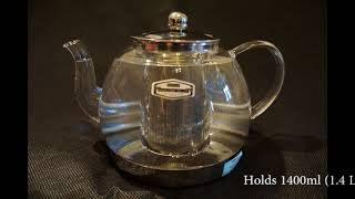 IAN Heat Resistant Good Glass Teapot with Stainless Steel Infuser & Lid Review
