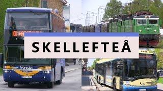 Skellefteå tåg, buss och Stadsbild 2016.