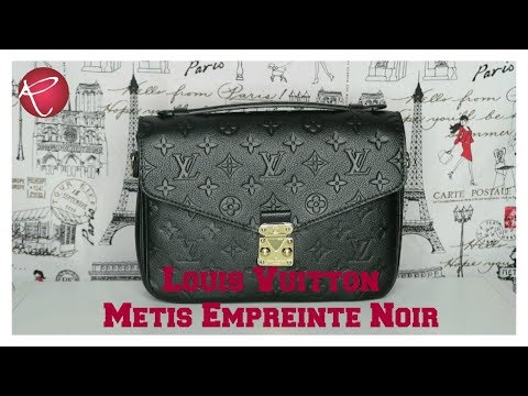 Louis Vuiton Metis Empreinte Leather Noir | Review | What Fits | Red Ruby Creates