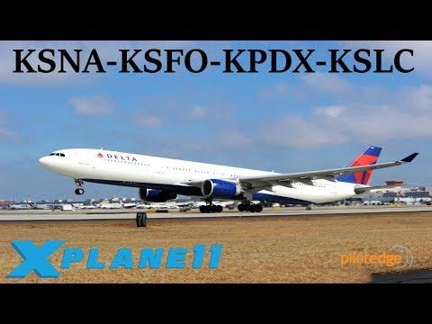 X-Plane 11 | BSS sound pack for FFa320!! | KSNA-KSFO-KPDX-KSLC | A319 A320 A330 | PilotEdge