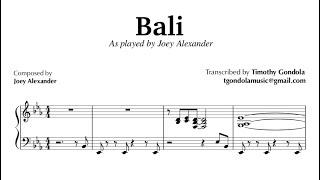 Joey Alexander| Bali- Transcription