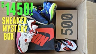Unboxing A $1,450 Sneaker Mystery Box! (Jordans, Yeezys, & More!)