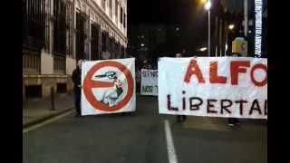 Coordinadora anti-fascista comienza la manifestación por Murcia #28D libertad para -ALFON- #YA