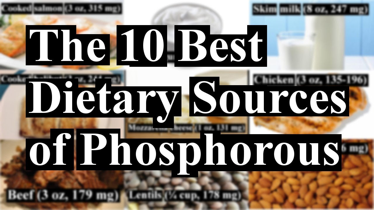 Top 10 Natural Dietary Sources Of Phosphorus Youtube