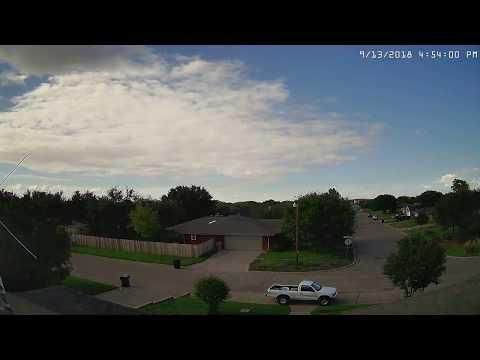 Abilene TX 24 Hour Time Lapse - 20180913 Thursday NNW