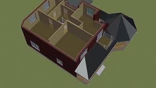 Проект дома № Ц-50 мансардный без гаража. Планировка 2го этажа.
