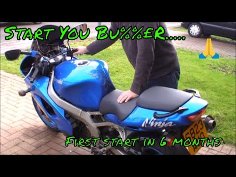 Kawasaki ZX9R Ninja First Start in around 6 months