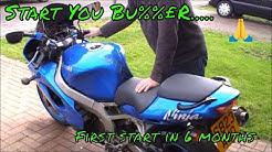 Kawasaki ZX9R Ninja First Start in around 6 months