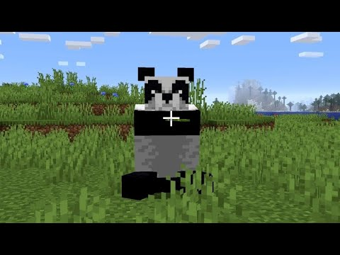 Minecraft: How To Tame A Panda Bear - (Minecraft Taming Pandas)