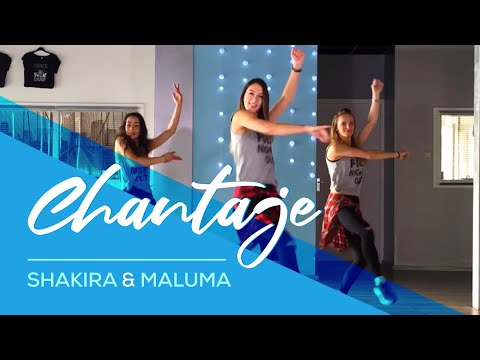 Chantaje - Shakira ft Maluma - Easy Fitness Dance Video - Choreography - Ржачные видео приколы
