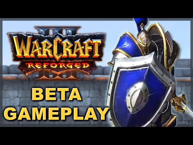 WC3 REFORGED BETA: Human Gameplay (AM, MK, Footman, Casters)