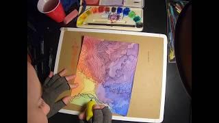 Watercolor, Ink, Topography Clip