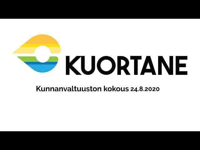 Kuortaneen kunnanvaltuuston kokous 24.8.2020