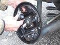 R�ckseite Trommelbremse / Bremsbacken und Bremszylinder austausch mit einem kit vormontiert