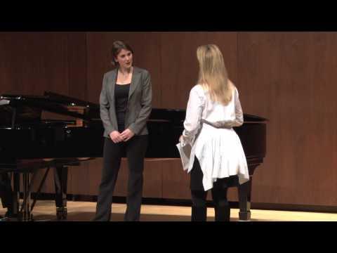Joyce DiDonato Master Class, January 25, 2013: Virginie Verrez and Bretton Brown