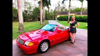 SOLD! 1991 Mercedes Benz SL 500 Roadster, only 56K Miles, for sale by Autohaus of Naples,