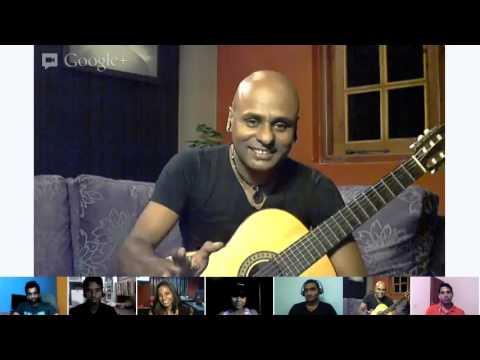 Sangeeth Wijesuriya with Music.lk Ripples of Music Hangout.