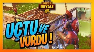 UÇTU VE VURDUUUU - FORTNITE BATTLE ROYALE - (SOLO OYNAYIŞ)