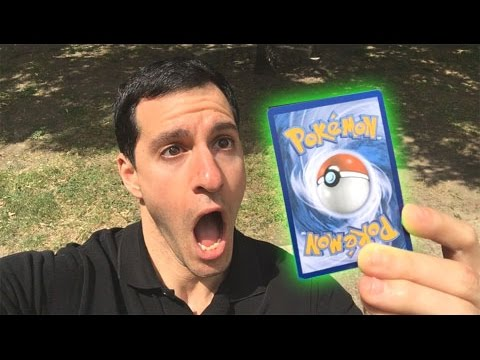 I PULLED A GREAT POKEMON CARD! - Ultra Ball! Where You At?! - OPENING POKEMON CARDS AT THE PARK!