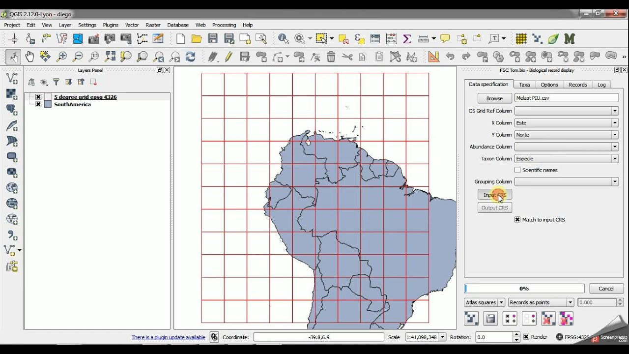 QGIS How Do I Make A Species Richness Map For An Area In South - Make points on a map