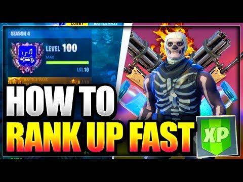 *NEW* How To RANK/LEVEL up FASTER In Fortnite Battle Royale and Get tier 100 in season 4 FAST GLITCH