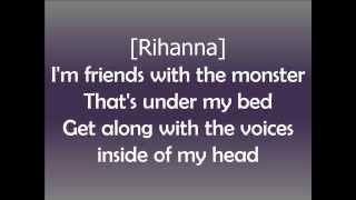 Eminem - The Monster ft. Rihanna [Official Lyrics Video HD]
