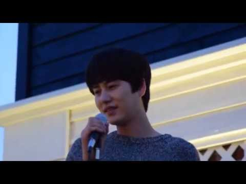 141008 mom house event - kyuhyun singing late autumn