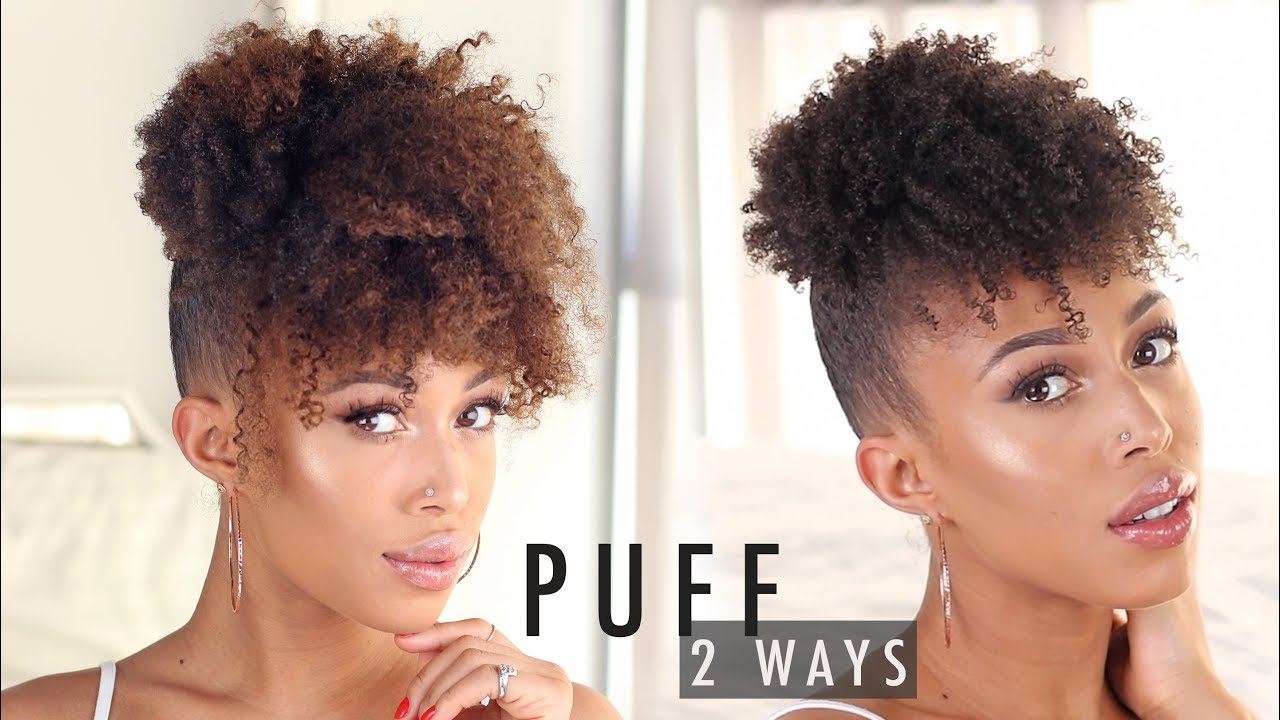 How To High Puff With Bangs On Natural Hair 2 Ways