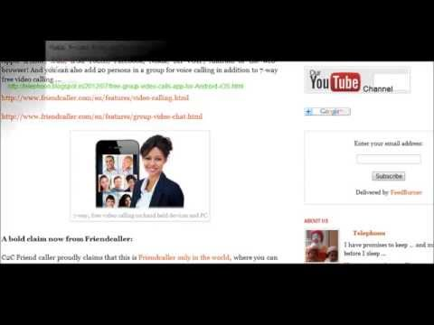 How to make 7-Way Free VoIp group video chat on cell phones, tablets and PCs?
