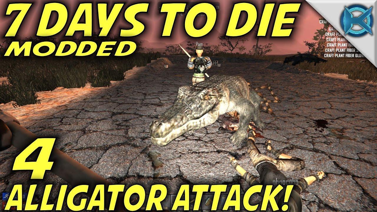 Download 7 Days to Die Modded | EP 4 | Alligator Attack! | MP Let's Play Starvation Mod | Alpha 15 (S1)