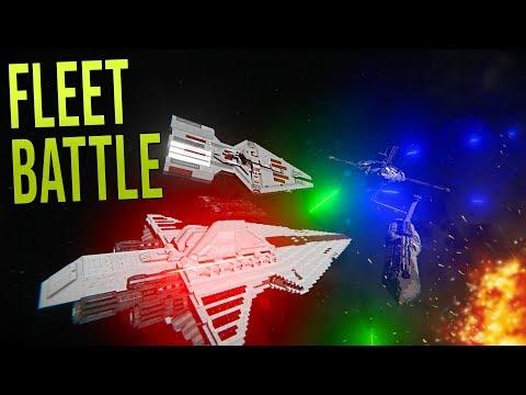 CLONE FLEET vs DROID FLEET! (Clone Wars EPIC BATTLE!) - Space Engineers!