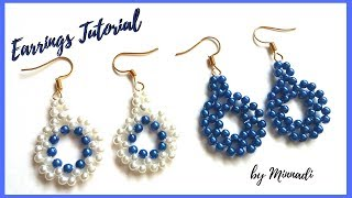 😊How to make Pearl Earrings Tutorial Quick & Easy DIY Jewelry
