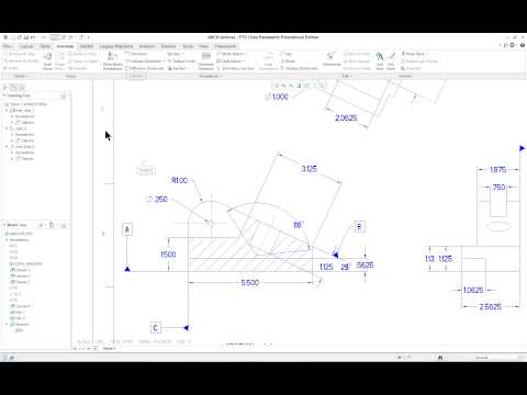 Lesson 11 pt1 Anchor Detail Drawing PTC Creo Parametric 3