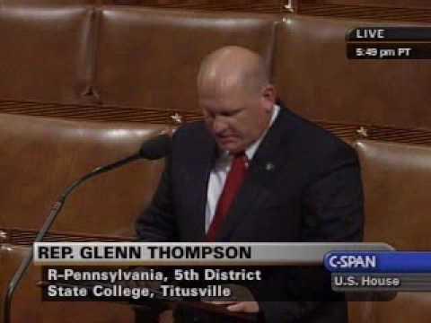 Congressman Glenn Thompson (PA-05) addresses joblessness