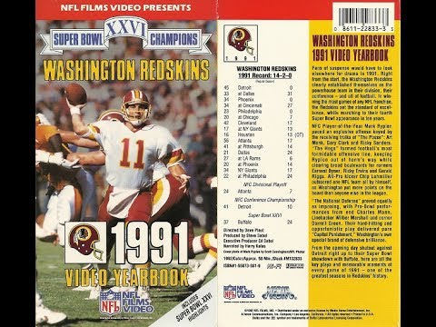 Washington Redskins 1991 Video Yearbook