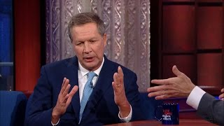 Stephen Colbert Grills John Kasich On Cannabis