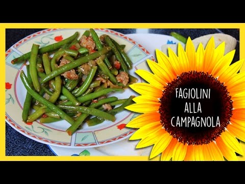 Fagiolini alla campagnola (ricetta facile)