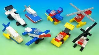 1989 LEGO MOTION SET OF 8 McDONALDS HAPPY MEAL KIDS TOYS VIDEO REVIEW