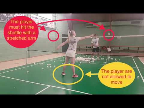 BADMINTON EXERCISE #45 - NET KILL, IN OUTER POSITIONS