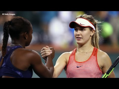 Eugenie Bouchard VS Sloane Stephens Highlight 2016 R2