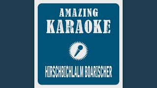 Hirschbichlalm Boarischer (Live Edit) (Karaoke Version) (Originally Performed By Zillertaler...