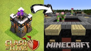 Clash of Clans Base in Minecraft!