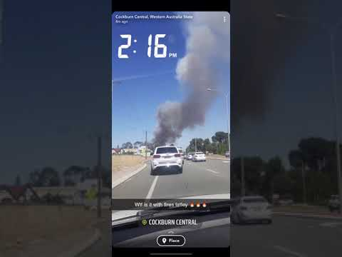 ABC Perth   Atwell Fire Emergency From The Mitchell Freeway 10 Jan   2020