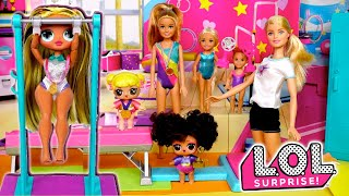 Barbie LOL OMG Family Gymnastics Morning Routines & Competitions