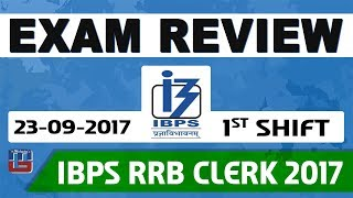 Video Exam Review With Cut Off | IBPS RRB CLERK 2017 | 23 September-Ist Shift download MP3, 3GP, MP4, WEBM, AVI, FLV September 2017