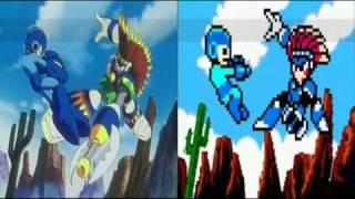 Comparison Megaman 8 Intros