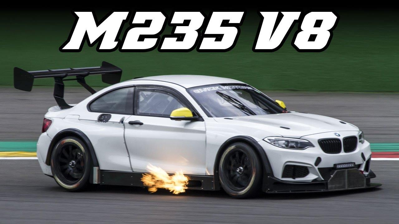 bmw m235i v8 big flames marc cars conversion youtube. Black Bedroom Furniture Sets. Home Design Ideas