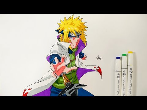 How To Draw Minato - Step By Step (Tutorial) - Naruto Shippuden