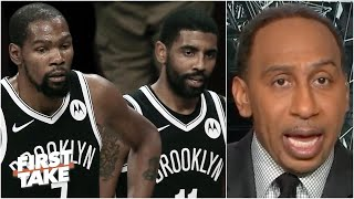Stephen A. predicts 'disaster' for Kyrie Irving & Kevin Durant | First Take