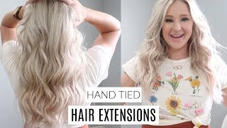 I GOT HAIR EXTENSIONS! THE PROCESS, FAQS, AND MY HUSBAND'S REACTION! | HAND TIED HAIR EXTENSIONS